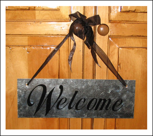 Vinyl Projects: Welcome Sign